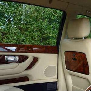 Interior of White Bentley Arnage