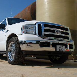 Our White Ford Excursion Limo