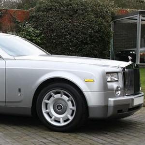 Executive Silver Rolls Royce Phantom