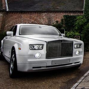 Our White Rolls Royce Phantom