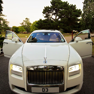 Our White Rolls Royce Ghost Hire in London